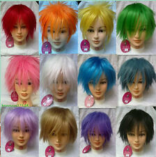 Free Shipping Short Straight Alice Cosplay Costume Party Full Wig 12 Colors+Gift