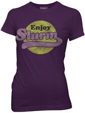 SALE Futurama Enjoy Slurm Funny Womens Cotton Fitted T Shirt