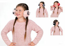 Girls Fluffy Faux Fur Plush Ear Muffs - 4 Colours To Choose From