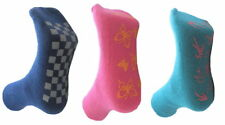 3 Pairs Girls Non SKid Slipper Socks- Various Sizes Available