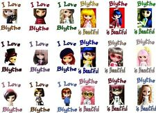 BLYTHE DOLLS I love temporary TATTOOS doll collection, waterproof  last 1 week+