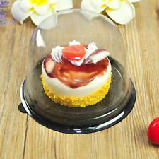 NY SELLER Clear Cupcake Pods Single Cheese Mousse Dessert Box/Package Case Xmas