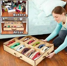 12 Pairs Shoes Easy Storage Box New Intake Under Bed Closet Organizer Holder Bag