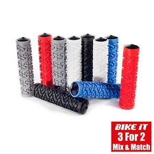 WHITE HANDLE BAR GRIPS - MOUNTAIN BIKE MTB BMX BICYCLE CYCLING CYCLE SCOOTER 1PR