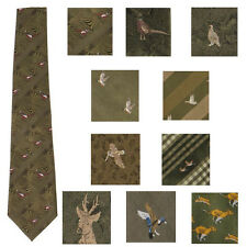 BISLEY POLYESTER HUNTING SHOOTING TIES GAME COUNTRY GIFT PHEASANTS DUCK STAG ETC