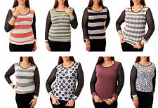 NEW LADY SEXY MADE IN USA Long Sleeve Plus Size Top BLOUSE SHIRT XL-3XL