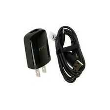 OEM HTC 1A Home Wall Travel AC DC Adapter + Micro USB Data Sync Charger Cable