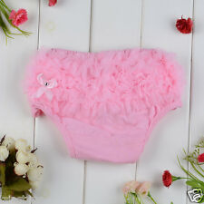 Hot sale Baby Lace Ruffle Bloomer Girls underwear Nappy Diaper Cover 6-24 month