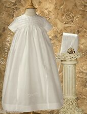 Girls Or Boys Family Christening Baptism Gown Embroidered Cross 100% Silk /DP03