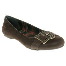 New Womens Rocket Dog Brown Voucher Synthetic Shoes Flats Slip On