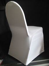 NEW WHITE SPANDEX WEDDING BANQUET CHAIR COVERS