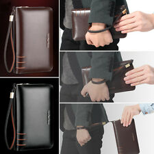 Mature Men Business Bags Briefcase Wallets Fashion Purse AR196 Real Leather Bags