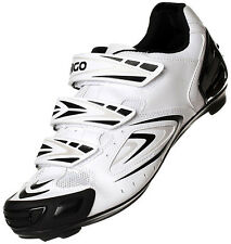 NEW EIGO ANTARES CYCLING SHOES - ROAD RACING CYCLE BIKE TRIATHLON - WHITE