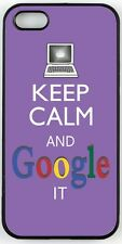 Rikki Knight Keep Calm And Google It -Violet Color Case for iPhone 4, 5 & 6