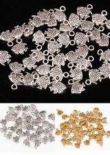Jewelry Findings 100pcs Retro Style Zinc Alloy Fish Charm Pendant For Crafts