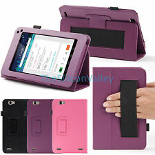 PU Leather Folio Stand Case w/Handstrap Cover For Hisense Sero 7 Pro Inch Tablet