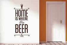Home Is Where The Beer Is Wall Stickers Decals Art Quotes