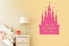 They All Lived Happily Ever After Fairytale Wall Stickers Decals kids Vinyl