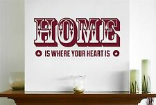 Home Is Where Your Heart Is Two Stars Wall Stickers Decals Art Decor Vinyl