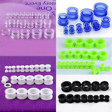 Pair Acrylic Screw Ear Plugs Tunnel Barbell Stretcher Body Jewellery Pick Gauges