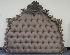 Spectacular Tufted Headboard Louis French Style Custom Bed Finishes And Fabric