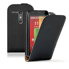 ULTRA SLIM Leather Flip Case Cover Pouch for Mobile Phone Motorola Moto G XT1032