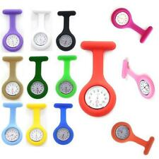 Fashionable Silicone Case Nurse Medical Doctor Watch Brooch Tunic Fob 13 Colors