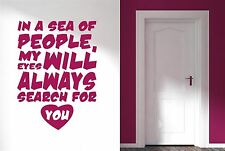 Sea Of People My Eyes Will Search For You Wall Stickers Art Decals Decor Vinyl