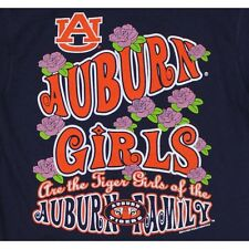 Auburn Tigers T-Shirt - Tiger Girls Of The Auburn Family - Flowers - Color Navy