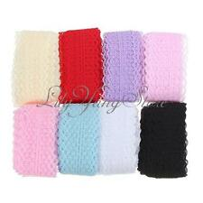 New Handicrafts Bilateral 10 Yard Embroidered Net Lace Trim Ribbon DIY 8 Colors