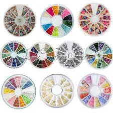 26 Styles Nail Art Rhinestones Glitters Tips Decoration Manicure Bead Wheel Gem