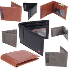 Mens Slim Wallet Bifold Alpine Swiss Billfold Thin Front Pocket Wallet Leather