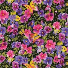 Pansy Passion Quilt Fabric By The Yard