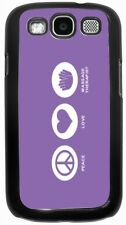 Peace Love Massage Therapist Violet Color  Case for Samsung Galaxy S3 S4