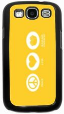 Peace Love Massage Therapist Yellow Color  Case for Samsung Galaxy S3 S4 S5