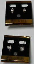 Crystal Earring Ear Stud Piercing  Fashion Jewelry Silver plated 2 pair
