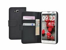 WALLET Leather Flip Case Cover Pouch for Mobile Phone LG Optimus L9 II 2 / D605