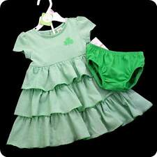 NWT~Carters~IRISH~Saint /ST Patricks Day~Shamrock~Ruffle Dress~3 9 24 M~U Pic SZ