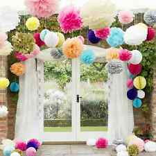 "1/3/5/10pc 8"" 10"" 14"" Tissue Paper Pom Poms Wedding Party Baby Shower Decoration"