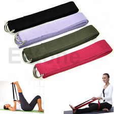 6 Foot Yoga Stretch Strap D-Ring Belt Figure Waist Leg Fitness Exercise Gym