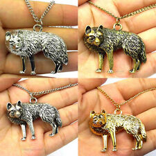 Cool New Style Vintag Copper/Silver Wolf Man/Woman's Pendant With Necklace Prom