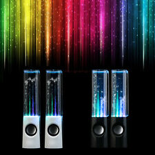 New White/Black USB LED Light Dancing Water Show Speaker Music for PC Laptop
