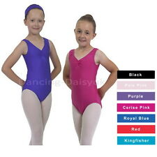 GIRLS/LADIES LAUREN BALLET LEOTARD NYLON LYCRA SLEEVELESS DANCE LEOTARD