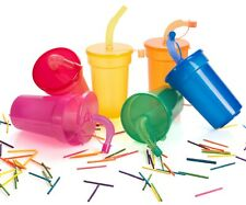 SMOOTHIE TUMBLER & STRAW FOR JUICE & ICED COFFEE - 450ML PLASTIC TRAVEL CUP