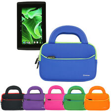 """Neoprene Sleeve Handle Carrying Cover Pouch Case For EVGA Tegra Note 7"""" Tablet"""