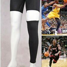 Basketball Sport Compression Calf Stretch Brace Thigh Skin Protect Leg Sleeve