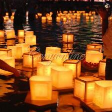 NEW Chinese Square Paper Wishing Floating Water River Candle Lanterns Lamp Light