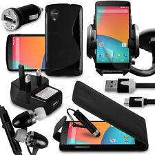 10 in 1 Bundle Accessory Kit Case Car Holder Charger For LG Nexus 5 Mobile Phone