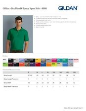 12 Golf Shirts Polo Shirts Gildan Blank Bulk Lot  S-XL  plain new wholesale lots