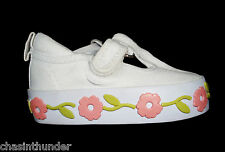 The Children's Place White Canvas Velcro Casual Shoes UK 2 to UK 9 - INFANT